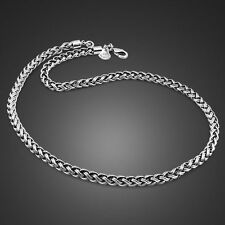 Genuine Solid Sterling Silver Thai Silver Rope Link Chain Men's Necklace PN313
