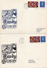 5xgb-guernseyherm Island, Isle of Jethou, Lundy firstday cover inscripciones Europa cept
