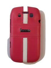 New snap on phone case cover For Blackberry Bold 9790 Pink plastic leather look