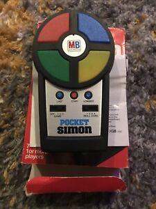 MB Electronics Pocket Simon Vintage Handheld Game Retro 1980s