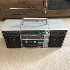 Vintage Sanyo C30 Radio Cassette Tape Boombox Ghettoblaster Detachable Speakers