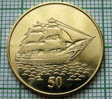 CHRISTMAS ISLAND 2016 50 CENTS FANTASY COIN, SAILING SHIP, UNUSUAL