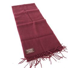Bloomingdale's Traditionalist 100% Cashmere Maroon Style Scarf Made West Germany