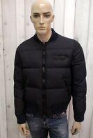 DSQUARED2 Uomo Taglia L Blu Giubbotto Piumino Coat Giacca Giaccone Jacket Man