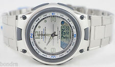 Casio AW82D-7AV Fishing Timer Moon Data Watch Steel Brand 10 Year Battery New