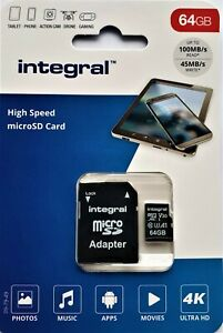 64GB Micro SD Memory Card Class 10 U3 for ACER Mobile Phone + SD adapter