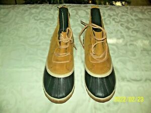 SOREL Out N About Plus Boot Lace Up Nice Leather/Rubber Woman's Size 7 Brown NIB