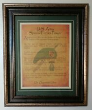 MC-BEST: Army Special Forces Prayer Framed Matted PERSONALIZED