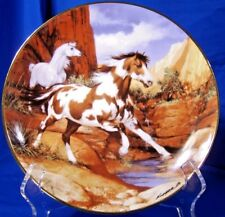 "Franklin Mint Royal Doulton horse plate "" TESTING THE WATERS""  Donald L. Kueker"