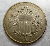 1883 Shield Nickel Gem BU / MS / Uncirculated Rainbow Toned Minor Scratch (pics)