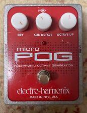 Electro harmonix ehx micro pog polyphonic pitch shifter effect pedal
