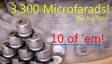 10 SunCon 3300 uF! Aluminum Electrolytic High Charge Capacitors 25V 25CE
