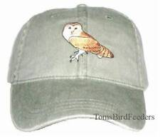 Barn Owl Embroidered Cotton Cap NEW