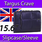 "TARGUS CRAVE 15.6"" INCH LAPTOP NOTEBOOK SLEEVE CASE BAG POUCH SLIPCASE BLUE"