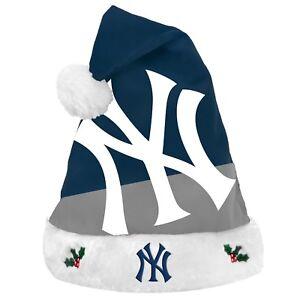 New York Yankees Team Big Logo Holiday Plush Santa Hat Christmas New! 2018