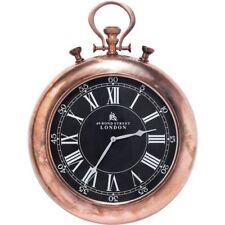 Kare Design 36099 Wanduhr Pocket Copper Uhr schwarzes Ziffernblatt Messing
