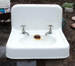 Large Antique Cast Iron Bathroom Sink