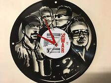 Repurposed Vinyl Record Clocks and Wall Art -  U2 -1 With Label Shown