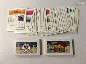 Monopoly SpongeBob SquarePants Card Set Title Deed Life Preserver Treasure Chest