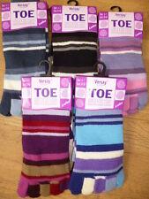 Women/Ladies Novelty Fun Striped Individual Toe Socks XMAS Gift ONE SIZE 4 - 7
