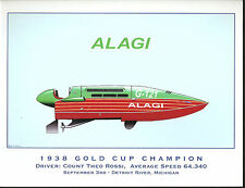 Alagi - Hydroplane Art Print - by R.J. Tully - Green Cover & Side