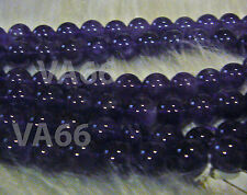 "DIY Purple 8mm Amethyst  A+ Gemstone Round Gemstones 15"" Beads Batu Asli"
