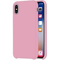[iGuard] Liquide Étui en Silicone Pour Apple IPHONE XS 10S Protection TPU Rose