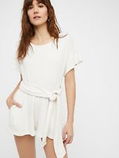 FREE PEOPLE Easy Street Wrapped One Piece Playsuit Romper Beach Boho Cotton S 8
