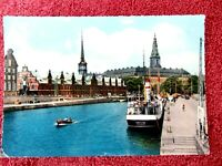 THE  EXCHANGE & CHRISTIANSBORG  PALACE  DENMARK  COLOUR  POSTCARD  [286]