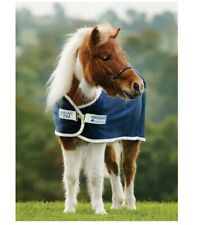 Petite Jersey Horse Cooler Blanket For Horses Drying Polyester Navy 33in