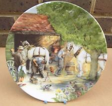 ROYAL DOULTON Old Country Crafts Collector Plate - The Blacksmith
