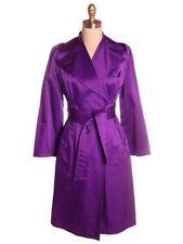 VTG 'Purple Rain' Trench Coat   1970s Small WOMENS Large Collar 36-28-38