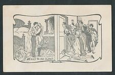 "1904 Risque PEEPING TOM Postcard ""At Last We Are Alone"""