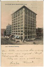 Woodward Building in Birmingham AL Postcard 1908