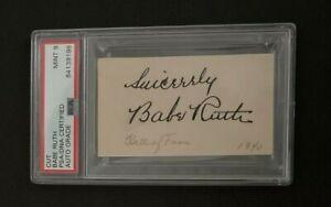 1930's Babe Ruth Signed Cut Signature PSA/DNA 9 New York Yankees HOF