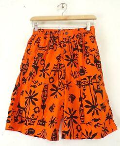 GAP Boys Size Small Orange & Black Tiki Beach Print Summer Shorts