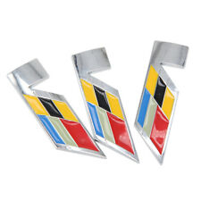 3x For Cadillac CTS SRX STS V Series Metal Emblem Side Fender Door Badge Sticker