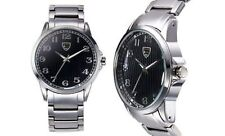 NEW Picard & Cie 9411 Men's Altis Collection Black Textured Dial Classy Watch
