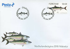 Faroes Faroe Islands 2018 FDC Mackerel Norden 1v Set Cover Fish Fishes Stamps