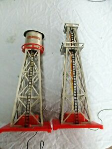 Colber Bubbling Oil Derrick #109 & Colber Bubbling Water Tower  # 108 used