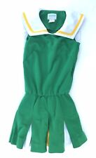 Real Cheerleading Uniform Vintage Adult S Green Yellow Halloween Costume
