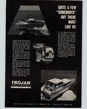 1966 PAPER AD Trojan Motor Boat Co Lancaster PA Pensylvania