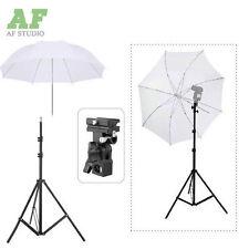 "Photo Studio Light Stand + Flash Bracket B Mount + 33"" Umbrella for Speedlite"