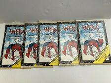 1991 SPIDERMAN WEBS STICKER PHOTO ALBUM  STICKERS ALL Mc FARLANE'S