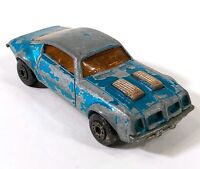 Matchbox Superfast 4 Pontiac Firebird Blue 1975 Vintage Diecast England D173