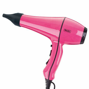 Wahl PowerDry Pink Hairdryer With 3 Heat And 2 Speed Settings 2 Nozzles 2000W