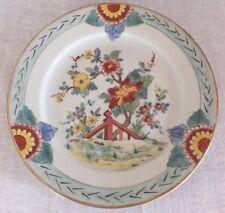 assiette chine porcelaine décor fleurs 20 eme (2)