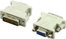 DVI-I Dual Link Male Digital Anolog To VGA 15 Pin Female Adapter Converter