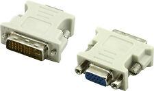 DVI-I Dual Link Maschio Digitale anolog A VGA 15 pin da femmina Adattatore convertitore