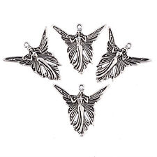 butterfly angle fairy Tibetan Silver Bead charms Pendants fit bracelet 5pcs